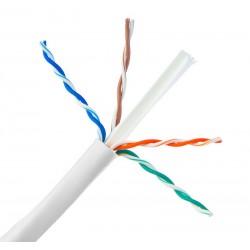 Powertech U/UTP Cat.6e Cable 305m Λευκό