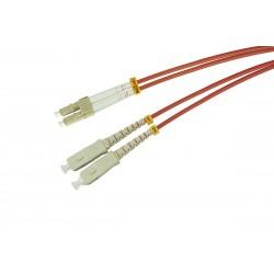 Patchcord OPTO LC/UPC-SC/UPC, MM 50/125 (OM2), DUPLEX, 2M